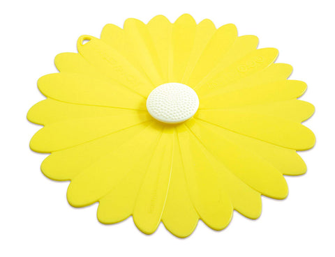 Yellow Daisy Lid 9""