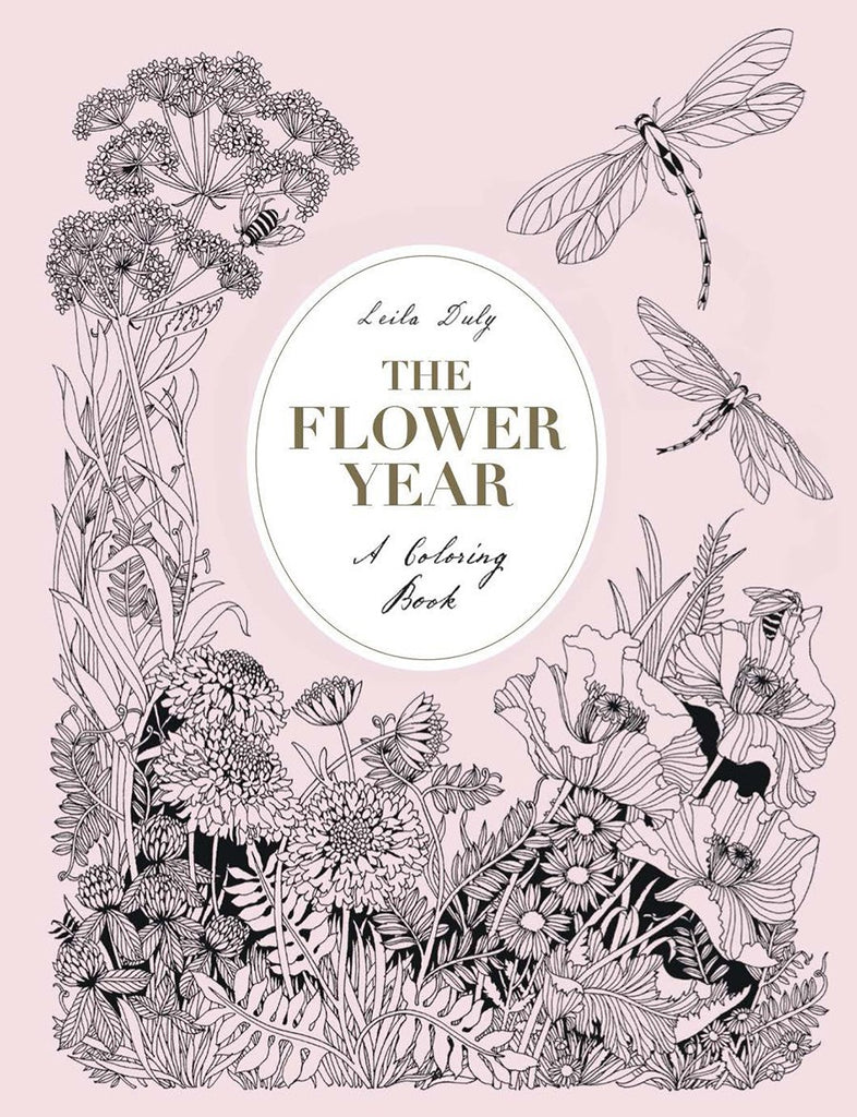 Flower Year - A Coloring Book