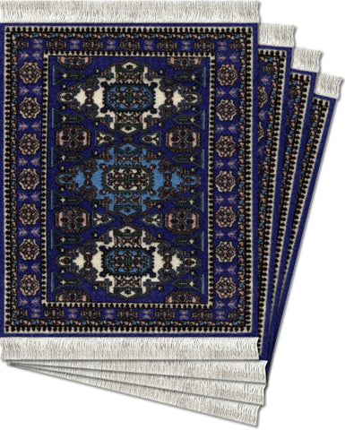 Ardabil - 4-pc CoasterRug® Set - MouseRug - Jules Enchanting Gifts