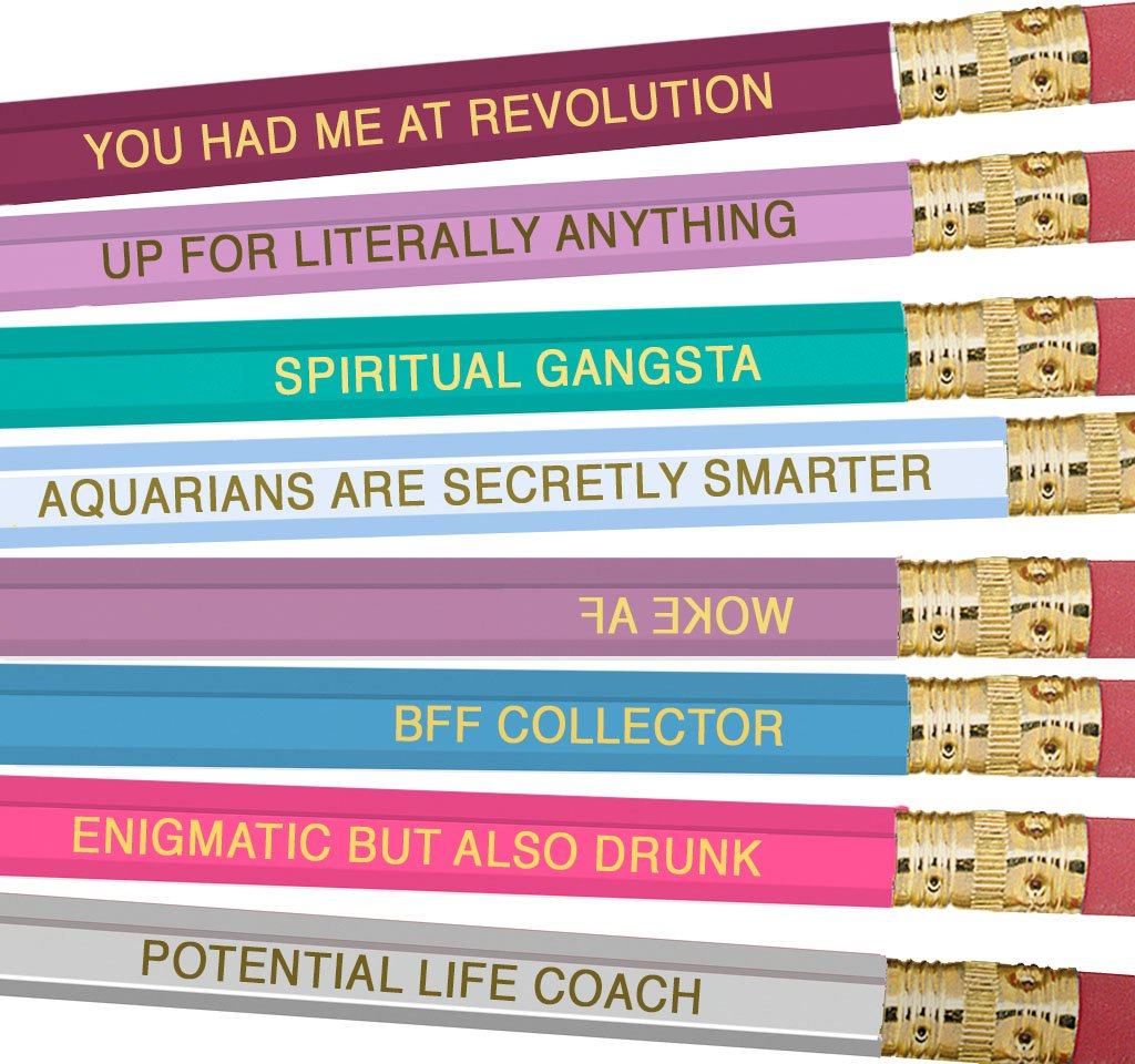 Astrology Pencils - Aquarius