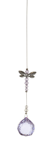 Dragonfly with 20mm Violet Crystal Ball
