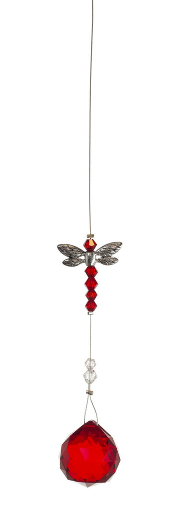 Dragonfly with 20mm Red Crystal Ball
