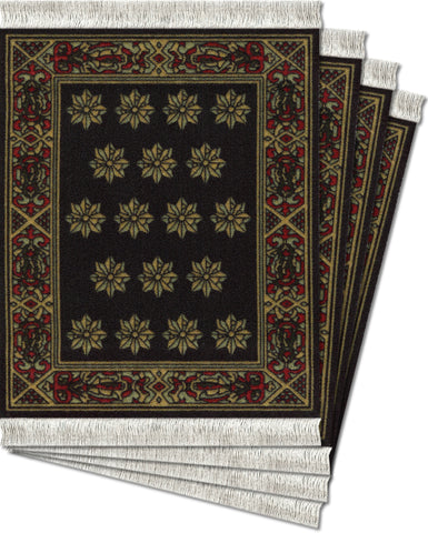 Country Heritage Stars Ð 4-pc CoasterRug¨ Set - MouseRug - Jules Enchanting Gifts