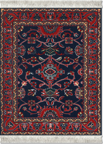 Deep Blue Bergamo MouseRug¨ & CoasterRug¨ Set - MouseRug - Jules Enchanting Gifts