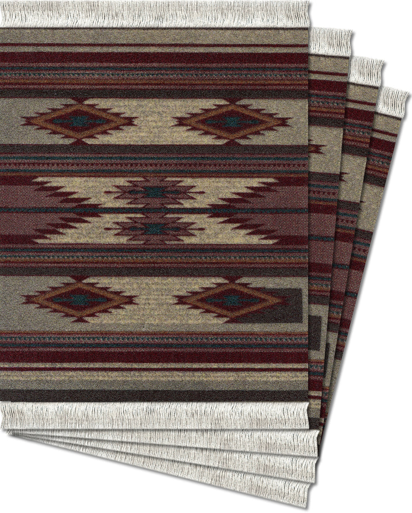 Earthtone Southwest Ð 4-pc CoasterRug¨ Set - MouseRug - Jules Enchanting Gifts