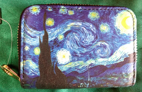 RFID Zipper Wallet - Starry Night
