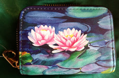 RFID Zipper Wallet - Water Lily