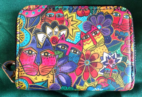RFID Zipper Wallet - Laurel's Garden - Laurel Burch