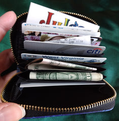 RFID Zipper Wallet - Hummingbirds