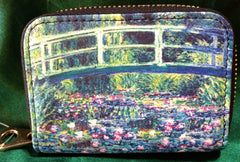 RFID Zipper Wallet - Monet's Lily Bridge