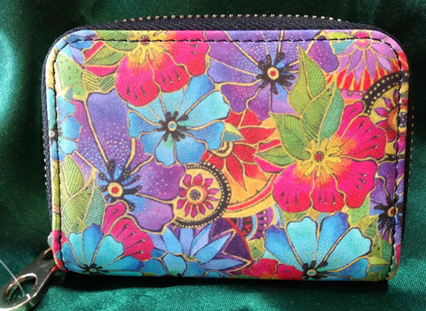 RFID Zipper Wallet - Blossoming Florals - Laurel Burch