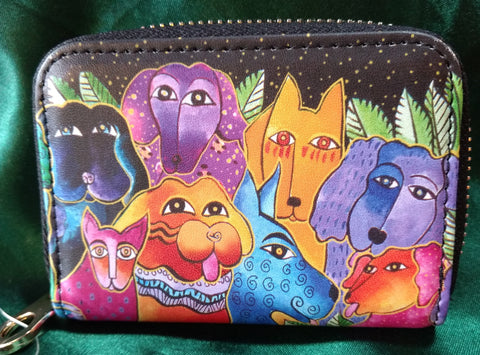 RFID Zipper Wallet - Dogs & Doggies - Laurel Burch