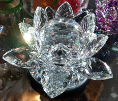 Medium Crystal Lotus with 40mm Crystal Ball