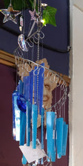 Jules Tones Wind Chime - Rhapsody in Blues - Large