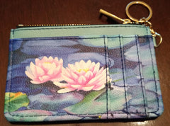 Keychain Wallet - Water Lily