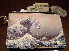 Keychain Wallet - The Great Wave