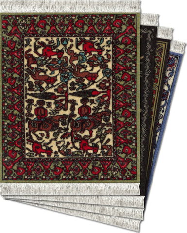 International Collection - 4-pc CoasterRug® Set - MouseRug - Jules Enchanting Gifts