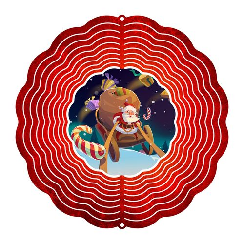 "Eycatcher - Medium Santa 10"" Spinner"