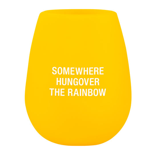 Hungover the Rainbow - Silicone Wine Glass