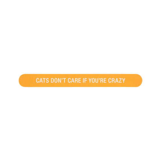 Cats Don't Care Emory Board