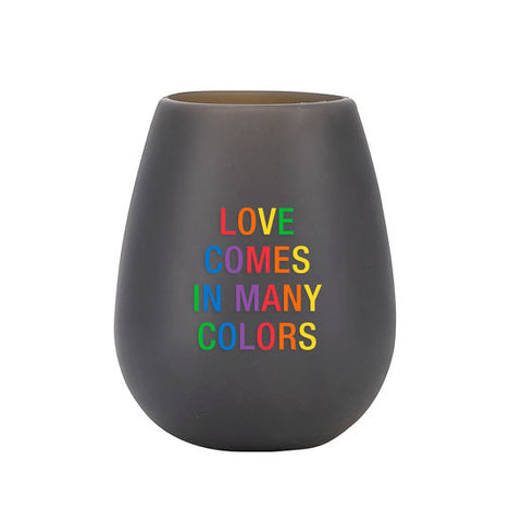 Love Comes in Many Colors - Silicone Wine Glass