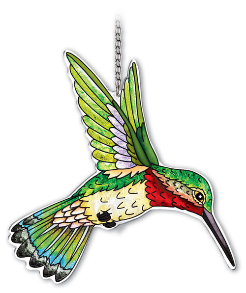 Amia Studios - Large Water-Cut Hummingbird Ruby-throated