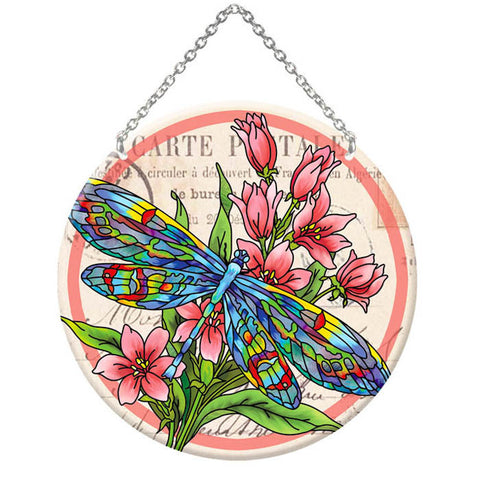 Dragonfly Post Suncatcher (LC300R) - Joan Baker Designs - Jules Enchanting Gifts