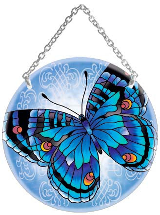 Blue Butterfly Suncatcher - Joan Baker Designs - Jules Enchanting Gifts