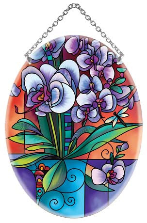 Jewel Tone Orchids Suncatcher - Joan Baker Designs - Jules Enchanting Gifts