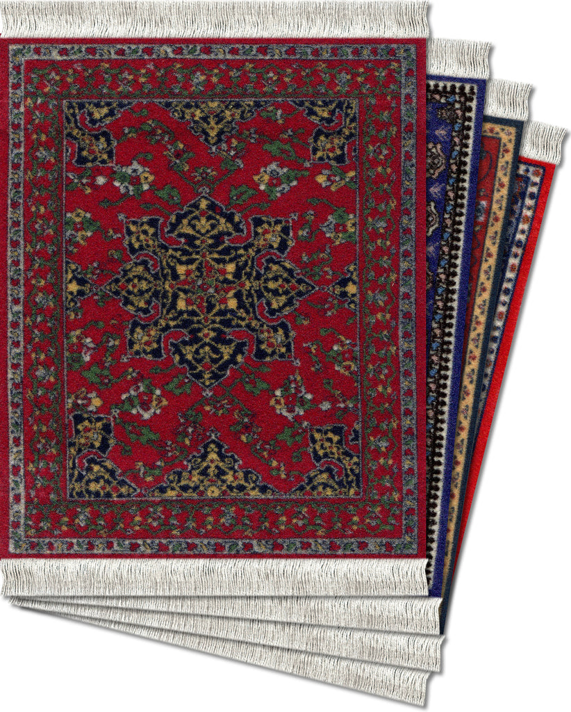 Oriental Assortment - 4-pc CoasterRug® Set - MouseRug - Jules Enchanting Gifts