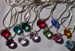 Heart Birthstone Crystal Necklace - Crystals - Jules Enchanting Gifts - 1