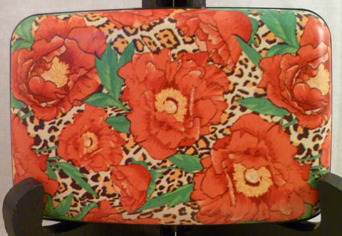 Wallet - Floral Red Poppies