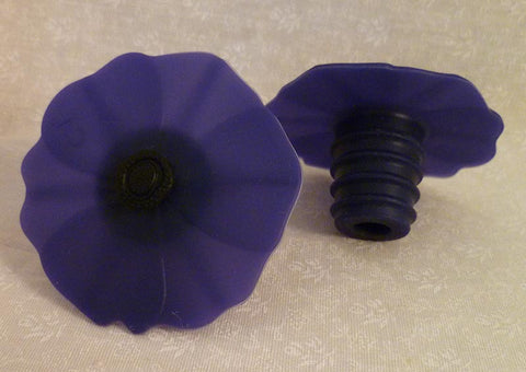 Blue Night Poppy Bottle Stopper