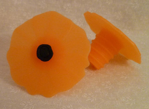 Orange Tangerine Poppy Bottle Stopper