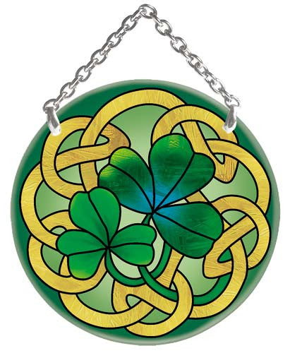 Irish Tiffany Suncatcher (SC070) - Joan Baker Designs - Jules Enchanting Gifts