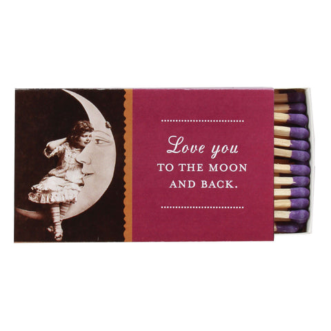 Love You to the Moon Boxed Matches