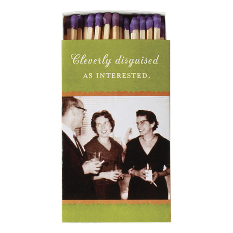 Cleverly Disguised as Interested Boxed Matches