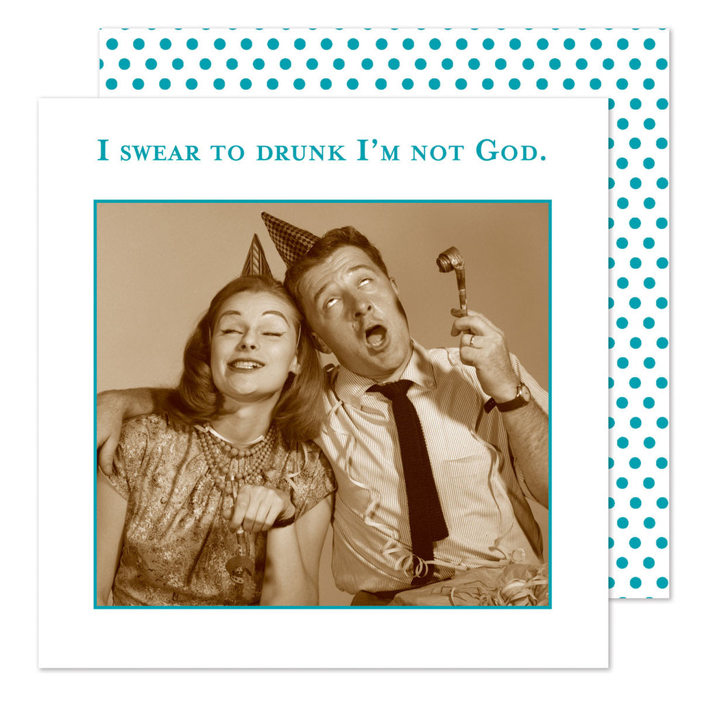 I Swear to Drunk - Beverage Napkins - Shannon Martin - Jules Enchanting Gifts