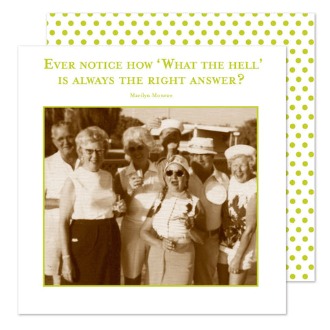 What the Hell - Beverage Napkins - Shannon Martin - Jules Enchanting Gifts