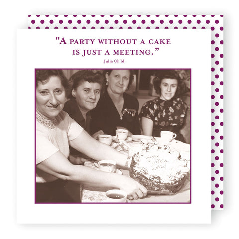 A Party without Cake - Beverage Napkins - Shannon Martin - Jules Enchanting Gifts
