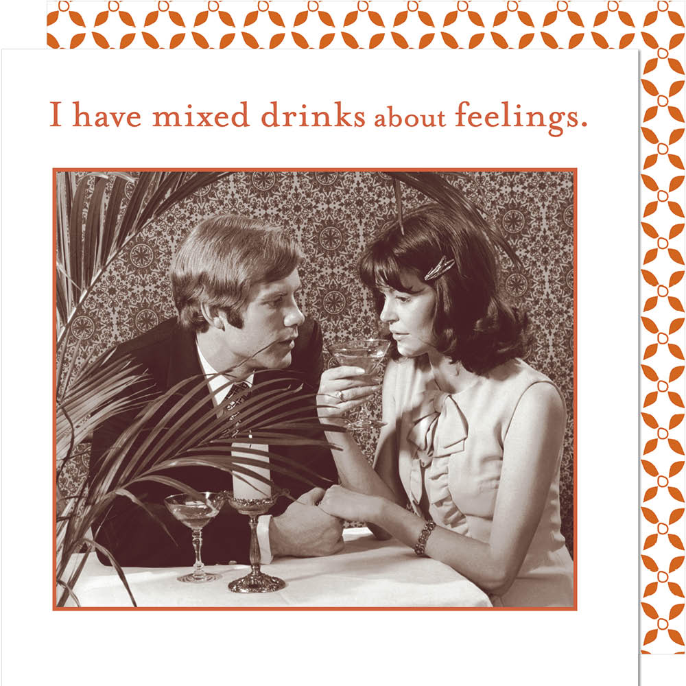 Mixed Drinks about Feelings - Beverage Napkins