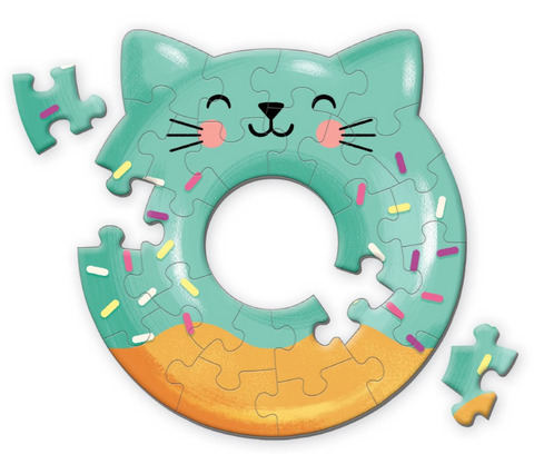 Cat Donut Shaped Mini Puzzle