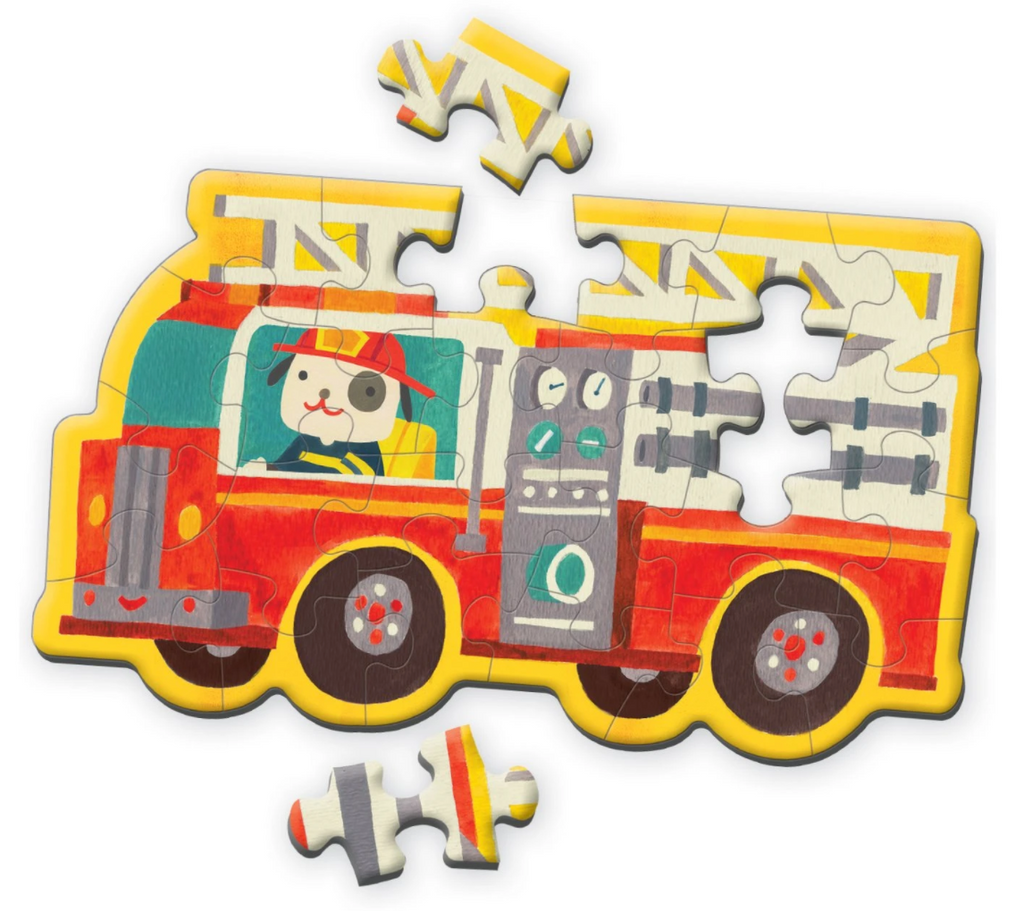 Firetruck Shaped Mini Puzzle