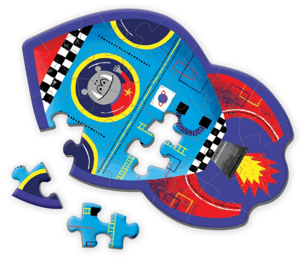 Spaceship Shaped Mini Puzzle