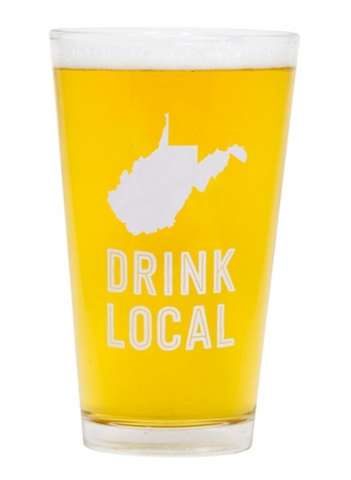 West Virginia Beer Pint Glass