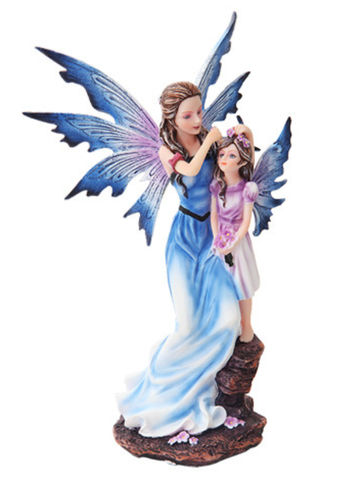 Blue Mother & Baby Fairy