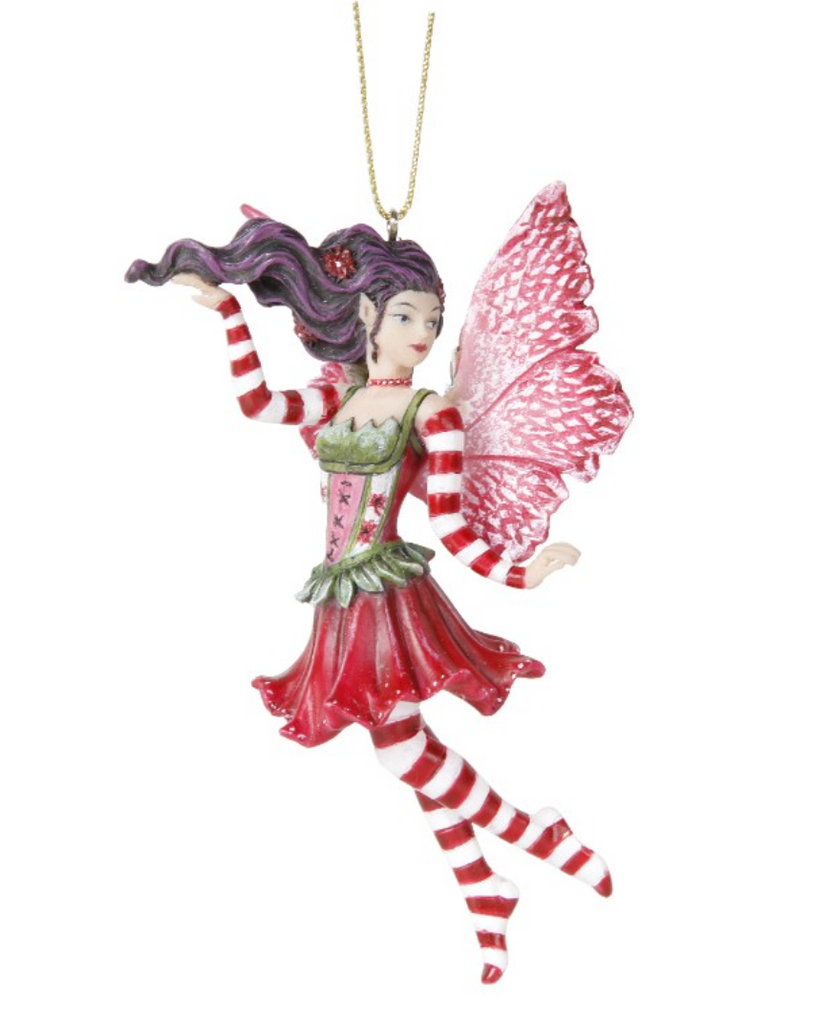 Poinsettia Fairy Ornament - 12215