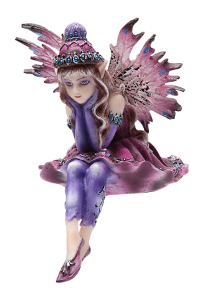 Fairy with Hat Shelf Sitter