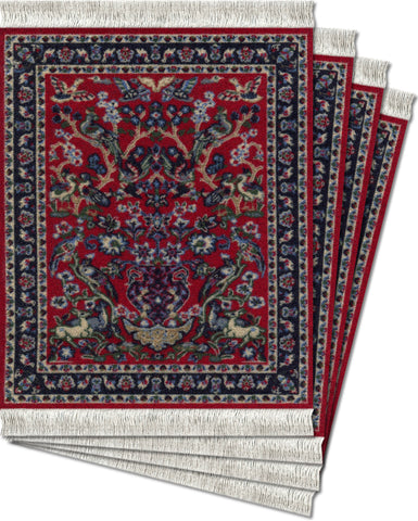 Tree of Life Ð 4-pc CoasterRug¨ Set - MouseRug - Jules Enchanting Gifts