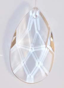 Faceted Almond 38mmAQ Lead Free Clear - Crystals - Jules Enchanting Gifts